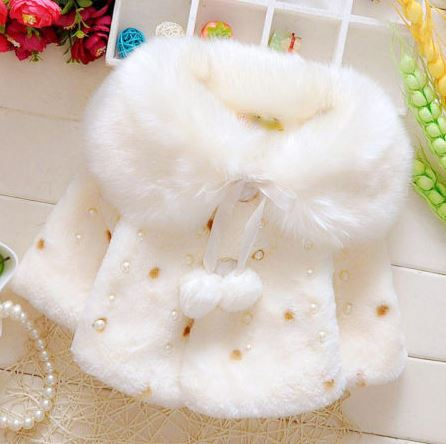 Sweet Beads Decorated Plush Cloak