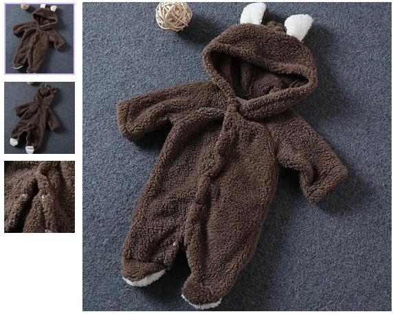 Cute Bear Style Newborn Romper