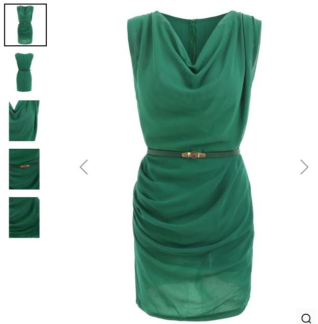 Slimming Cowl Neck Sleeveless Belt Design Solid Color Packet Buttock Dress